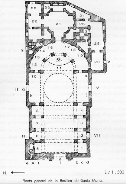 Planta general Basílica de Santa María